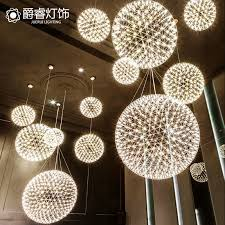 get ations american minimalist modern creative personality living room lights hall chandelier led stainless steel meal office mall
