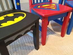 decorate superhero table chairs so cool