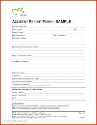 Elementary School Incident Report Template School Incident