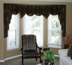 Window Treatment For Bay Windows In Living Room Swag Valances For Bay Windows Swags And Jabots In A Bay Window