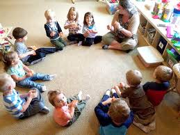 circle time is a common part of the preschool routine