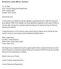 Memo Cover Letter Example Business Letter Memo Sample Business Memo