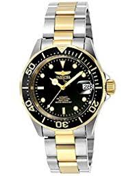 invicta watches shop amazon uk invicta unisex pro diver automatic watch black dial analogue display and silver gold plated bracelet