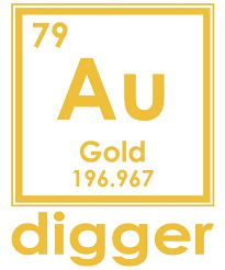 Gold Digger Au 196.967 Periodic Table Of Elements Design