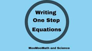 writing one step equations from word problems 6th grade math