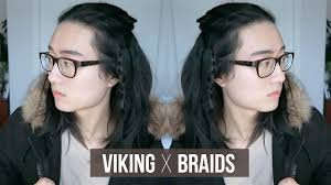 Viking Hairstyle Female easy viking braids men mediumlong hairstyle youtube 1906 by wearticles.com