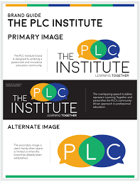 plc education printing materials website and brand guide design the plc institute