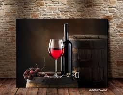 large wall art canvas print red wine barrel and wine bottle wineglass art canvas on large wine bottle wall art with large wall art canvas print red wine barrel and wine bottle