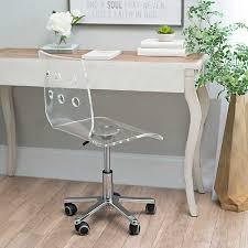 Image South Shore Kirklands Clear Acrylic Office Chair