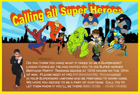 superheroes birthday party invitations homemade superhero invitations make your own invites