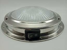Details About 12 Volt Led Dome Light Stainless Steel Caravan Or Boat 140mm Diameter 84 Lumen
