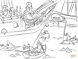 Small Picture Boston Tea Party coloring page Free Printable Coloring Pages