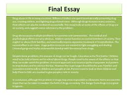 drug addiction essay best ways to end an essay scribd