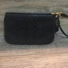 Coach Bags - Coach small black and gold clutch