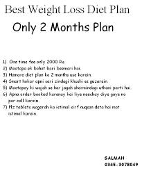 Best Weight Loss Diet Plan Karachi