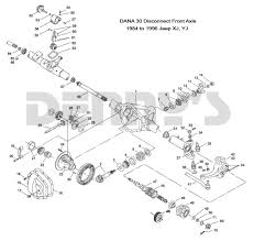 Dana 44 Front Axle Shaft Length Chart Jeep Front Axles And Related Parts Dana 30 Disconnect