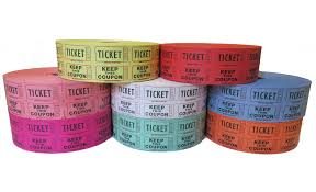 custom roll tickets double roll raffle tickets blue