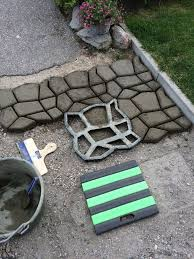 diy driveway paving pavement mold patio