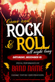 Concert Poster Design Design A Rock Poster Online Postermywall