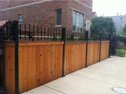 Wood And Wrought Iron Fence Inspirations Also Charming Brick Designs