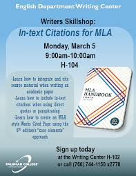 Writing Center In Text Citations For Mla Events Calendar