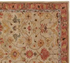 pottery barn area rugs elham persian style rug