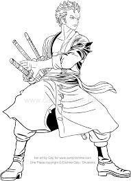 Disegno Di Roronoa Zoro Di One Piece Da Colorare
