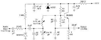 frequency modulated fm oscillator circuit fm oscillator circuit schematic