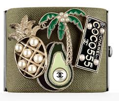chanel pin. chanel pin avocado (new) (price on request)