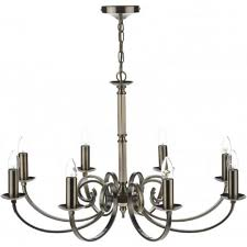 murray traditional antique brass chandelier with 8 candle lights