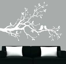 white wall decal white wall decals plus modern white tree branch decal with birds vinyl wall