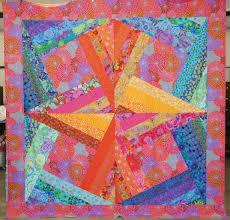 free pattern ~ Kaffe Fassett modern crazy quilt. Created by ... & free pattern ~ Kaffe Fassett modern crazy quilt. Created by Deborah  Vollbracht using Kaffe Adamdwight.com