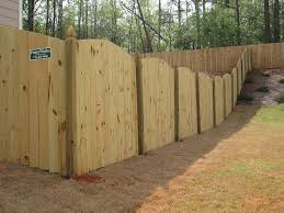 Custom Scalloped Privacy Fence