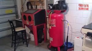 powder coating in garage