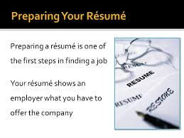 Getting The Job You Want Ppt Video Online Preparing A Resume