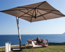 fim p series aluminum 11 5 square cantilever umbrella