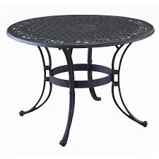 home styles biscayne 48 in w x 48 in l round aluminum dining table
