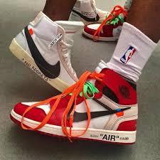nike x off white. off-white x air jordan 1 sneakers and nike blazer off white