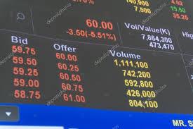 Market Quotes New Display Of Stock Market Quotes Price Decrease Stock Photo