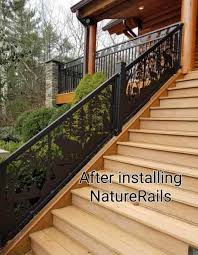 Your outdoor stair railings should be as pretty as the rest of your home fixtures. Decorative Deck Railing Metal Deck Railing Porch Railing Naturerails Com