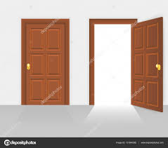 open front door illustration. Interesting Door Open And Closed House Front Door Vector Illustration U2014 Stock Vector With Front Door Illustration I