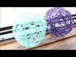 How To Make String Ball Decorations Custom DIY StringYarn Balls YouTube