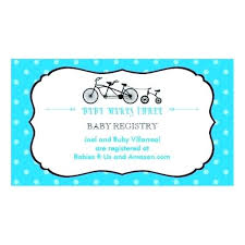 Registry Business Card Templates For Baby Shower Inserts Template