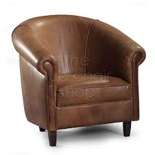 tub chairs sir tub chair in cerato brown aniline leather with dark wood legs