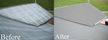 before after tin metal roof restoration