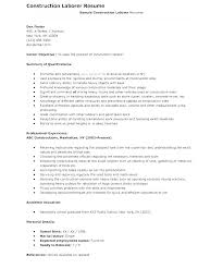 General Labour Resume Sample Laborer Resume Examples Construction Mesmerizing Construction Resume Examples
