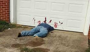 the decapitated man lying under a garage door shocked passersby pic greene county sheriff s department