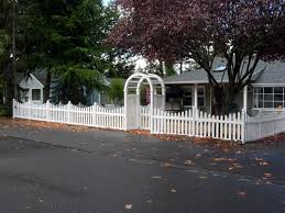vinyl picket fence front yard. Unique Fence Vinyl And Wood Fences Add Character Charm To Your Front Yard Intended Picket Fence