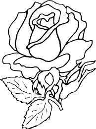 Small Picture Rose Flower Coloring Pages Kids Flower Coloring pages of