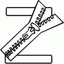 Small Picture Letter Z Coloring Pages Coloring Home
